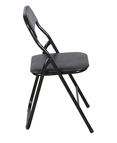 DAY - USEFUL EVERYDAY Klappstuhl schwarz aus pulverbeschichtetem Stahlrohr für die ganze Wohnung und Outdoor Skandinavisches Design 100kg Belastbarkeit