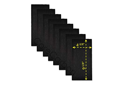 CoreCarbon 8-Pack Exact Fitment Pre-Filter Designed to Fit Honeywell True HEPA Models HPA-050, HPA060, HPA060BWM, HPA061-TGT and HEPAClean Model HHT-055