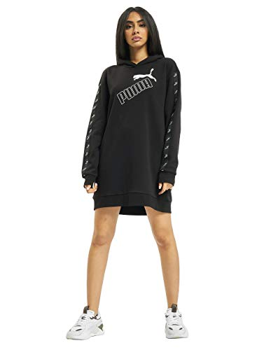 PUMA Amplified Hooded Dress TR Sudadera, Mujer, Negro, XS