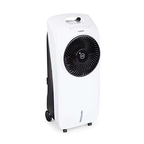 Klarstein Rotator Luftkühler 4-in-1-Gerät, 3 Windgeschwindigkeiten, 4-in-1-Gerät: Luftkühler, Ventilator, TACT-Ionisator und Luftbefeuchter, Cool Breeze, 8h-Timer, 110 Watt, elfenbein