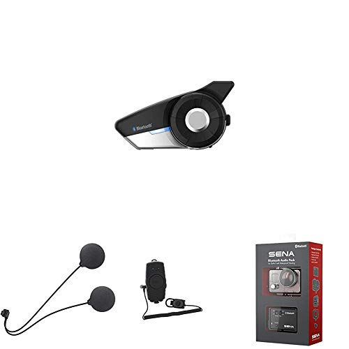 Sena 20s + Delgado Altavoz + Adaptador De Radio Bidireccional Bluetooth + Micrófono Bluetooth Pack para GoPro