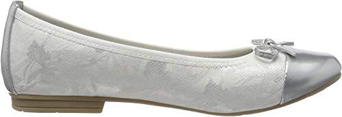 Jana 100% comfort Damen 8-8-22109-24 Geschlossene Ballerinas, Weiß (White 100), 40 EU