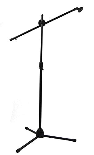 BUYMORE Soporte de Microfono Jirafa Pie Micro Tripode Plegable Negro