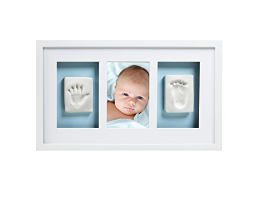Pearhead Babyprints Handprint and Footprint Deluxe Wall Keepsake Frame (White)