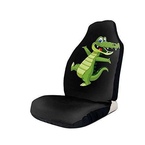 AEMAPE Fundas de Asiento de automóvil con diseño novedoso de Dibujos Animados de cocodrilo, duraderas y Ajustadas a la mayoría de automóviles