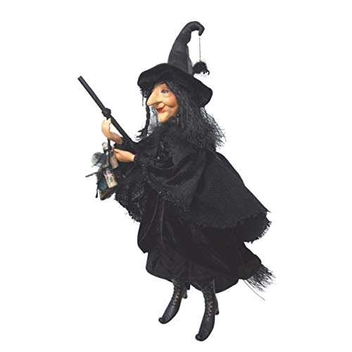 Halloween Flying Witch Prop with Black Cloak in the Air