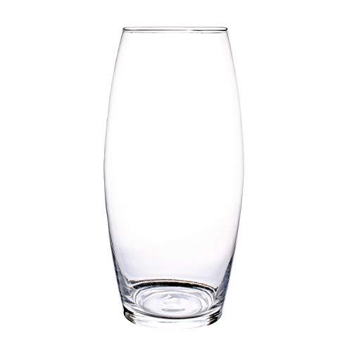 Glasvase, Transparent, KnikGlass Vase Glas Deko Blumenvase für Tischdeko und Hochzeit, Höhe 25 cm (#A)