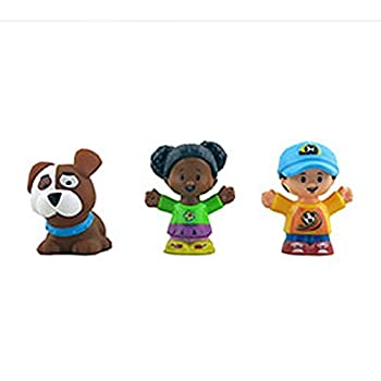 Replacement Parts for Little People Playset - DYF19 ~ Fisher-Price Little People Swing and Share Treehouse ~ 3 Replacement Figures ~ Boy Girl and Puppy