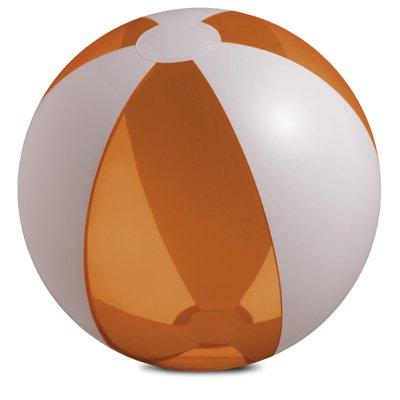 Ballon et résistantes aux-diamètre : env. 25 cm-orange/blanc transparent