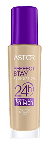Astor Perfect Stay Foundation 24h + Primer Base de Maquillaje, SPF20-30 ml