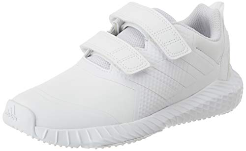 adidas Unisex-Child FortaGym Indoor Court Shoe, Cloud White/Cloud White/Grey, 31 EU