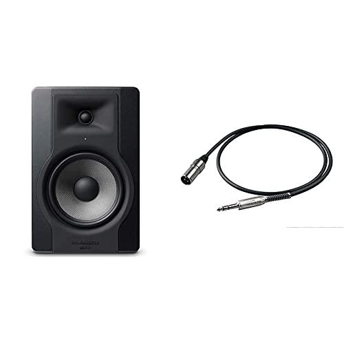 M-Audio BX8 D3 - Cassa Monitor da Studio Attiva da 150 W con Woofer da 8 e Controllo Acoustic Space & Proel BULK230LU5 Cavo professionale audio bilanciato con connessioni jack Stereo 6.3mm