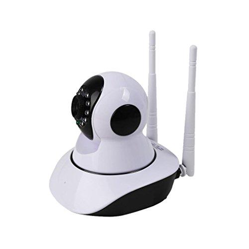 MagiDeal ESCAM G02 Dual Antenne 720P Pan/Tilt WiFi IP IR Kamera Nachtsicht Alarm, Unterstützung ONVIF, Eingebautes Mikrofon Lautsprecher, für Windows XP / 7/8/10, IOS und Android Handy