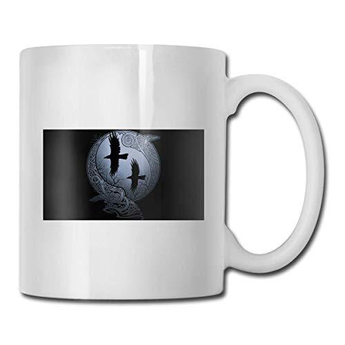 Taza de Odin, taza de café para bebidas calientes, taza de gres, taza de café de cerámica, taza de té de 11 onzas, divertida taza de regalo para té y café
