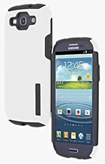 Incipio Samsung Galaxy S3 Double Cover Hard Shell Case with Silicone Core, White / Gray - Comes with Viewing Stand (Fits T-Mobile / Verizon / AT&T Galaxy S3)