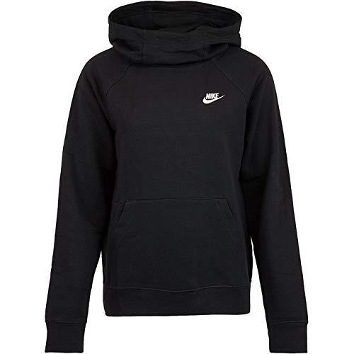 Nike Essential Funnel Fleece - Sudadera con capucha para mujer blanco/negro L