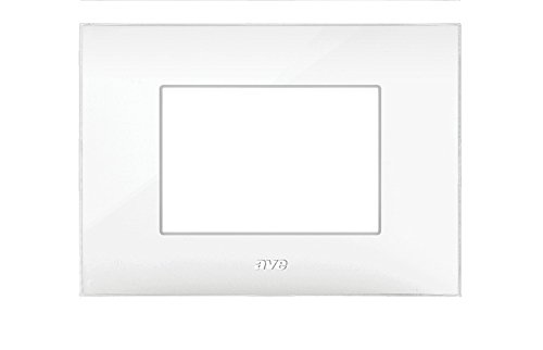 PLACCA AVE SERIE YOUNG44 3 MODULI COLORE BIANCO COD. 44PJ03B