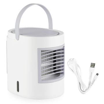 Simply Modern Personal Mini Air Conditioner - Portable AC Unit | Artic evaporative Cooler for Room, Office, and Bedroom. Compact humidifier, Comes in Pink, Blue, and Grey (Grey)