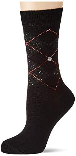 Burlington Damen Neon Pixel Queen Socken, schwarz (Black 3000), 36-41