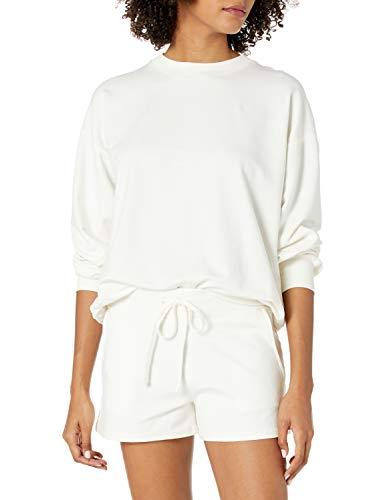 The Drop Margot Sweat-shirt pour Femme, Coupe Ample, Manches Longues, Col Rond, Épaules Tombantes
