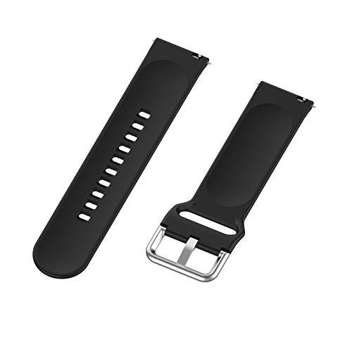 LOKEKE Correa de repuesto para Huawei Watch GT2 Pro – 22 mm de silicona de repuesto para Huawei Watch GT2 Pro/GT 2 (silicona negra)
