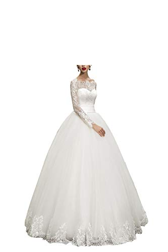 WeddingDazzle Wedding Dresses Ball Gown Sweetheart Wedding Gown Wedding Bridal for Women's US 4 White