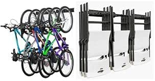 Garage Wall Storage Rack for Bikes and Chairs