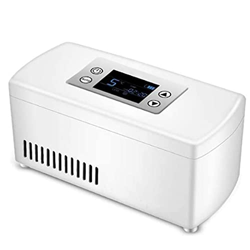 WANGXNCase Refrigerador De Insulina, Portátil Nevera para Medicamento Pequeño Temperatura Constante Refrigerato Pantalla LCD USB Cargado Mini Caja De Insulina