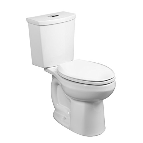 American Standard 2886518.020 H2 Option Siphonic Dual Flush Right Height Elongated Toilet with Liner, White, 2-Piece