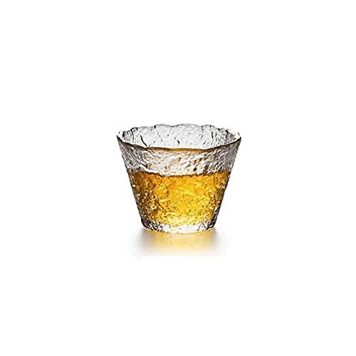 Dabeigouzbolb Glaser Hammere Glasschalen, klare Kaffee-Teetassen, 2 Unzen für Wassersaft, Bier und Cocktail-Tumbler (Size : A)