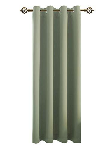 FLOWEROOM Verdunkelungsvorhang Blickdichte Gardinen - Lichtundurchlässige Vorhang mit Ösen für Schlafzimmer Geräuschreduzierung Nilgrün 245x140cm(HxB), 1 Stück