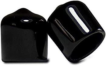 Prescott Plastics 3/8 Inch Round Black Vinyl End Cap, Flexible Pipe Post Rubber Cover (20)