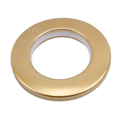 L_shop Anilla perforadora para cortinas, 50 unidades, con botón nano para cortinas de cuero, con ojales, color dorado