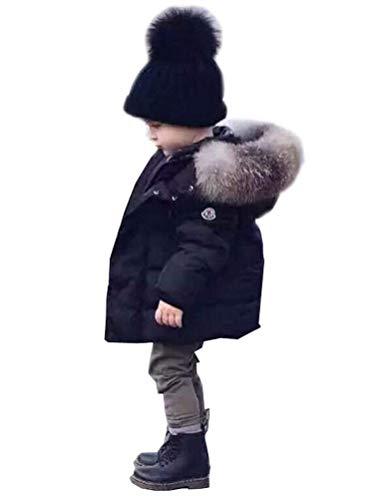 Odziezet Baby Daunenjacke Jungen Winterjacke mit Pelzkragen warm Mädchen Daunenmantel Trenchcoat Dick 1-6 Jahre alt …