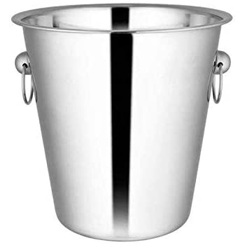 Shri & Sam Stainless Steel Plain Wine Ice Bucket, Silver