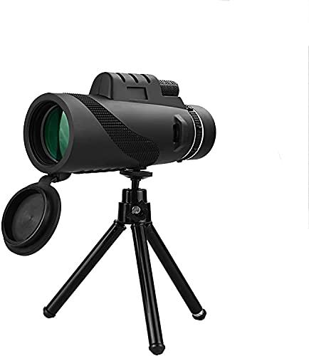 HSWYJJPFB Monocular Telescopio portátil 40 × 60 Prisma BAK4 de Alta definición con Adaptador de teléfono y trípode