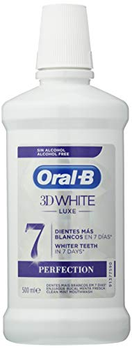 ORAL B enjuague bucal 3D white lux perfection botella 500 ml