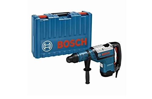 Bosch Professional Bohrhammer GBH 8-45 D (1.500 W Nennaufnahmeleistung, 12,5 J Schlagenergie, 12-45 mm Bohr-Ø in Beton, mit Zusatzhandgriff, im Koffer)