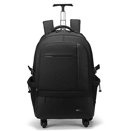 KJRJSB Kinderrucksack Trolley-Tasche, 20inch Trolley Rucksack for Business, Water-Resistant rollenden fahrbarer Rucksack for Schoo & Tourismus, Leichte Trolley Schultasche for Studenten