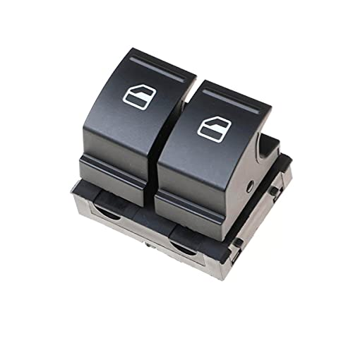 Interruptor elevalunas para puerta delantera del conductor compatible con Caddy Amarok Pickup EOS Golf 5 Golf6 Passat B6 Polo V Scirocco Touran Transporter T6 Repuesto para 1K3959857A