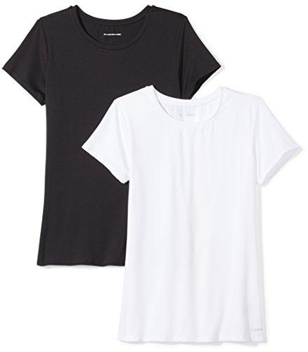 Amazon Essentials Mujer camiseta de deporte de manga corta, Pack de 2