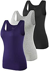 ✅ MATERIAL: Our womens tank tops are made of 95% Modal 5% Spandex, which pulls away moisture and keeps air flowing, make the solid basic tanks tops soft and comfortable to wear. High quality ensures the womens undershirt tank breathable, durable and ...