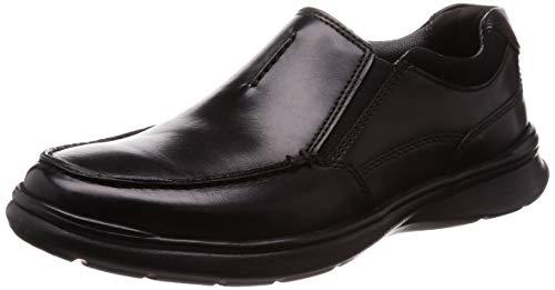 Clarks Cotrell Free, Mocassini Uomo, Nero (Black Smooth Leather), 44 EU