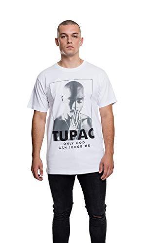 Mister Tee Herren 2Pac Prayer Tee T-Shirts, White, M