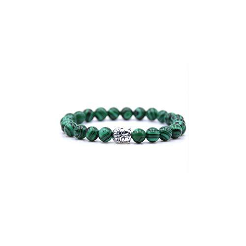Awertaweyt Pulsera de Cuentas, Natural Stone 8Mm Bead Buddha Bracelets For Women and Men Black Lava Bracelet Men Jewelry Pulseras Mujer 5