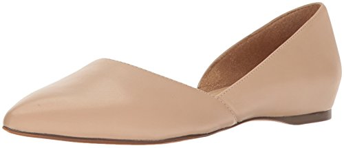 Naturalizer womens Samantha Pointed Toe Flat, Taupe, 8.5 US