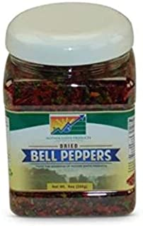 Mother Earth Products Dehydrated Mixed Bell Peppers Jar, 9 Ounce (Pack of 1)