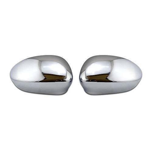 HUAQIEMI Chrome 2pcs Auto Spiegelabdeckungen Ersatzabdeckungen Innenzubehör, Für FIAT 500 2007-2019 Wing Mirror Covers Flügelspiegel Deckel Shell Side Protector Dekorativen Streifen