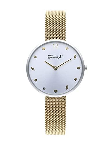 Mr wonderful happy o'clock orologio Donna Analogico Al quarzo con cinturino in Acciaio INOX WR80101