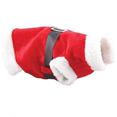 Christmas Decorations Littleduckling Rojo Navidad Mascota Cachorro Perro Gato Navidad Disfraz Santa Claus Capucha Mono Traje Traje - DISEÑO 1, 1 Paquete